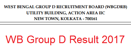 West Bengal Group D Result 2017