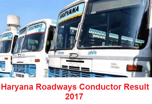Haryana Roadways Conductor Result 2017
