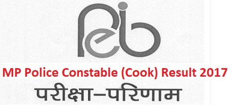 MP Police Constable Cook Result 2017