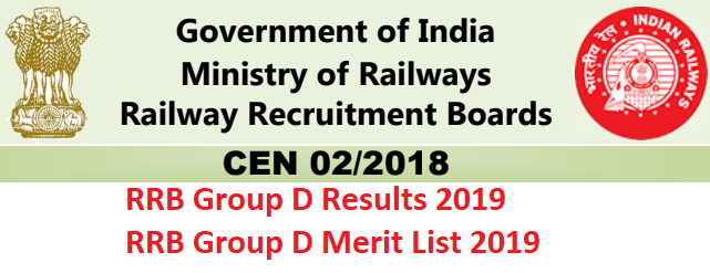 Railway Group D Exam Results 2019