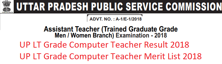UP LT Grade Computer Teacher Result 2018