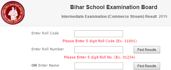 Bihar Board 12th Commerce Result 2019