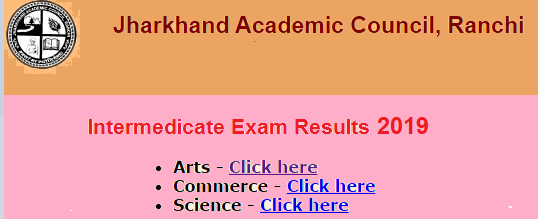 JAC Board 12th Result 2019