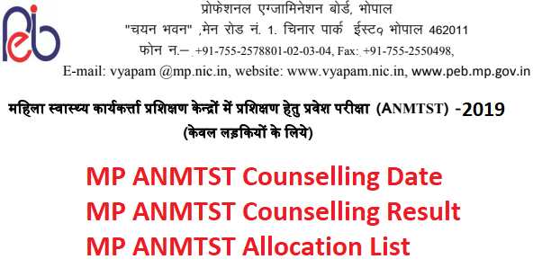 MP ANMTST 2019 Counselling