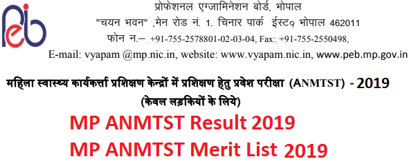 MP Vyapam ANM Result 2019