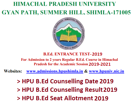 HP BEd Counselling 2019